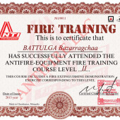 Training certificates